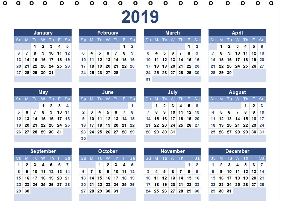 Staples Desk Calendar Template 2019