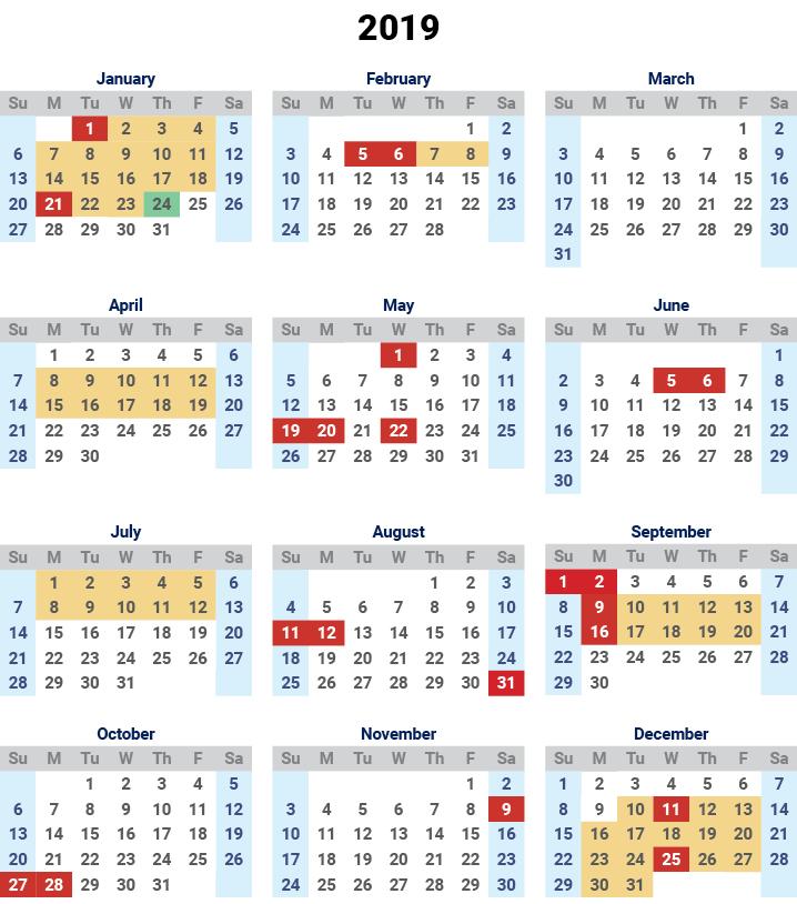School Holidays 2019 QLD Free