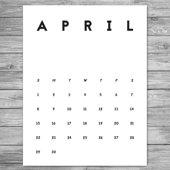 2019 Cute Desk Calendar