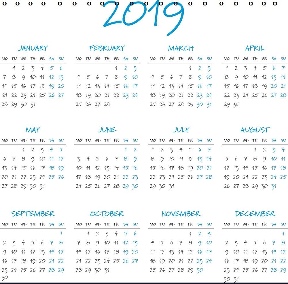 Personalized Desk Calendar 2019