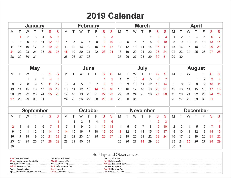 Public Holidays in Austin 2019