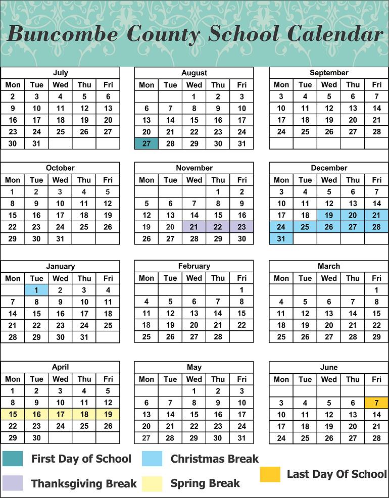 Buncombe County School Calendar