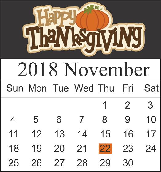 Thanksgiving Week 2018