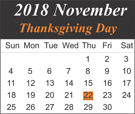November Thanksgiving Day
