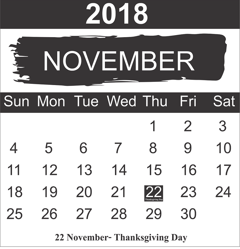 Thanksgiving 2018 holidays in USA