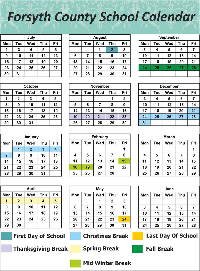 Forsyth County School Holidays