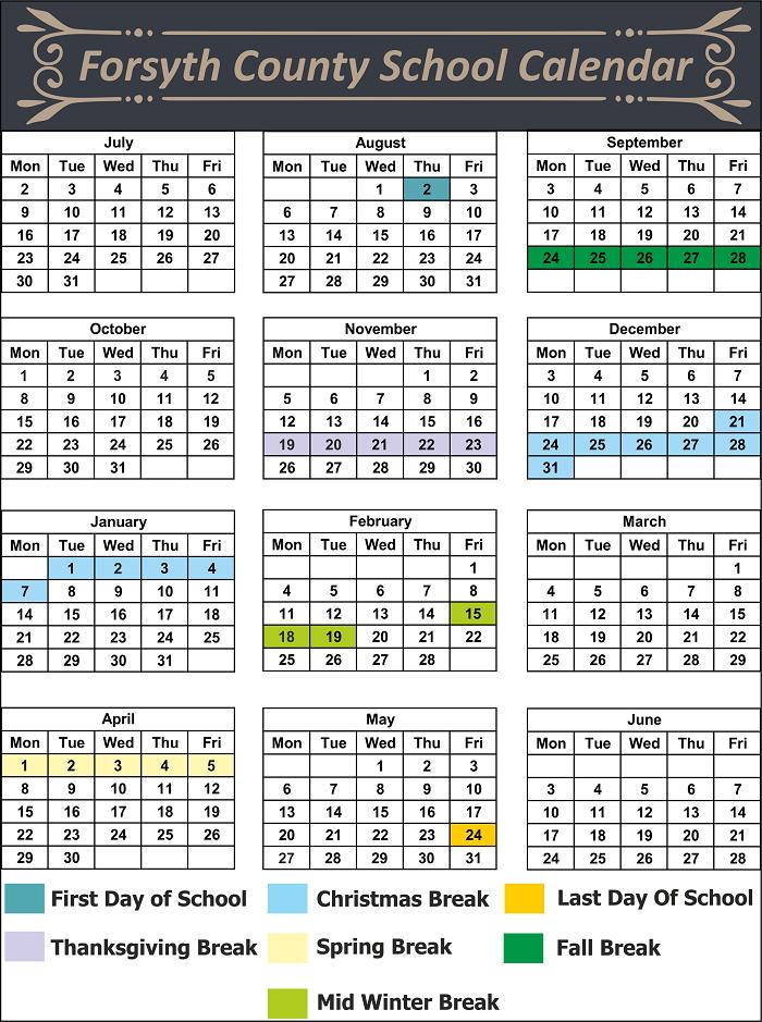 Forsyth County School Calendar