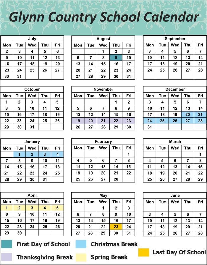 Glynn County School Holidays