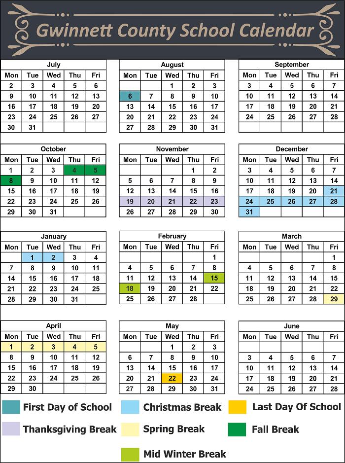 Gwinnett County School Holidays
