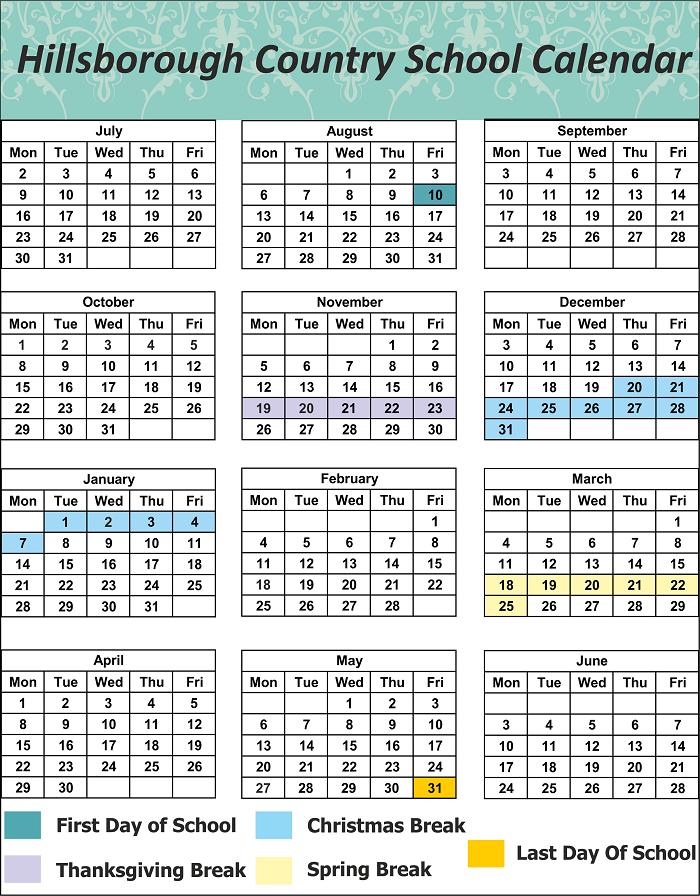 Hillsborough County School Holidays