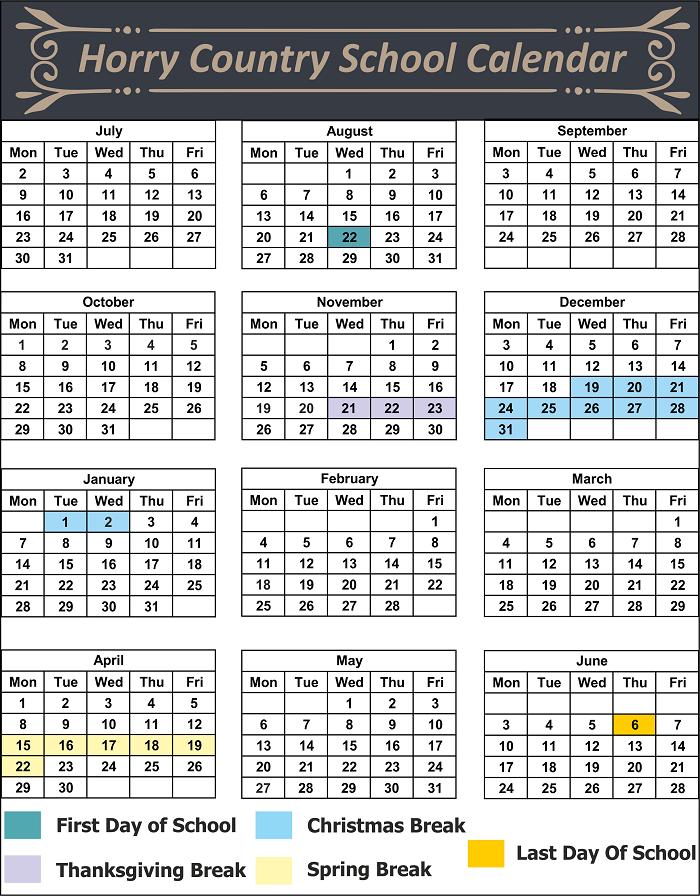 Horry County School Calendar
