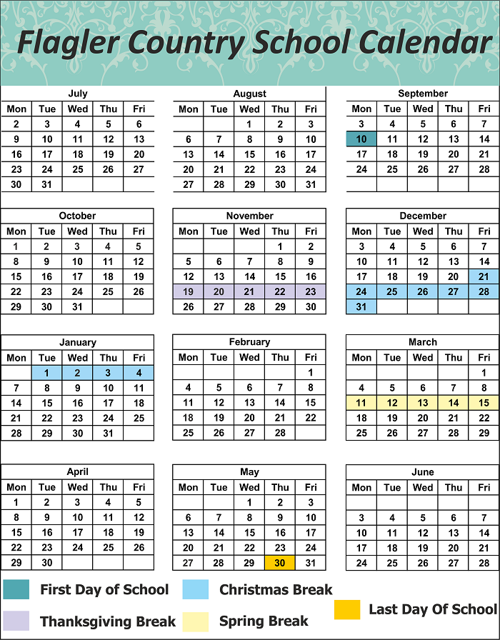 Flagler County School Calendar