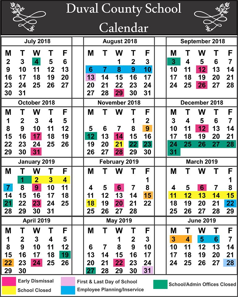 DuvalCounty School Calendar