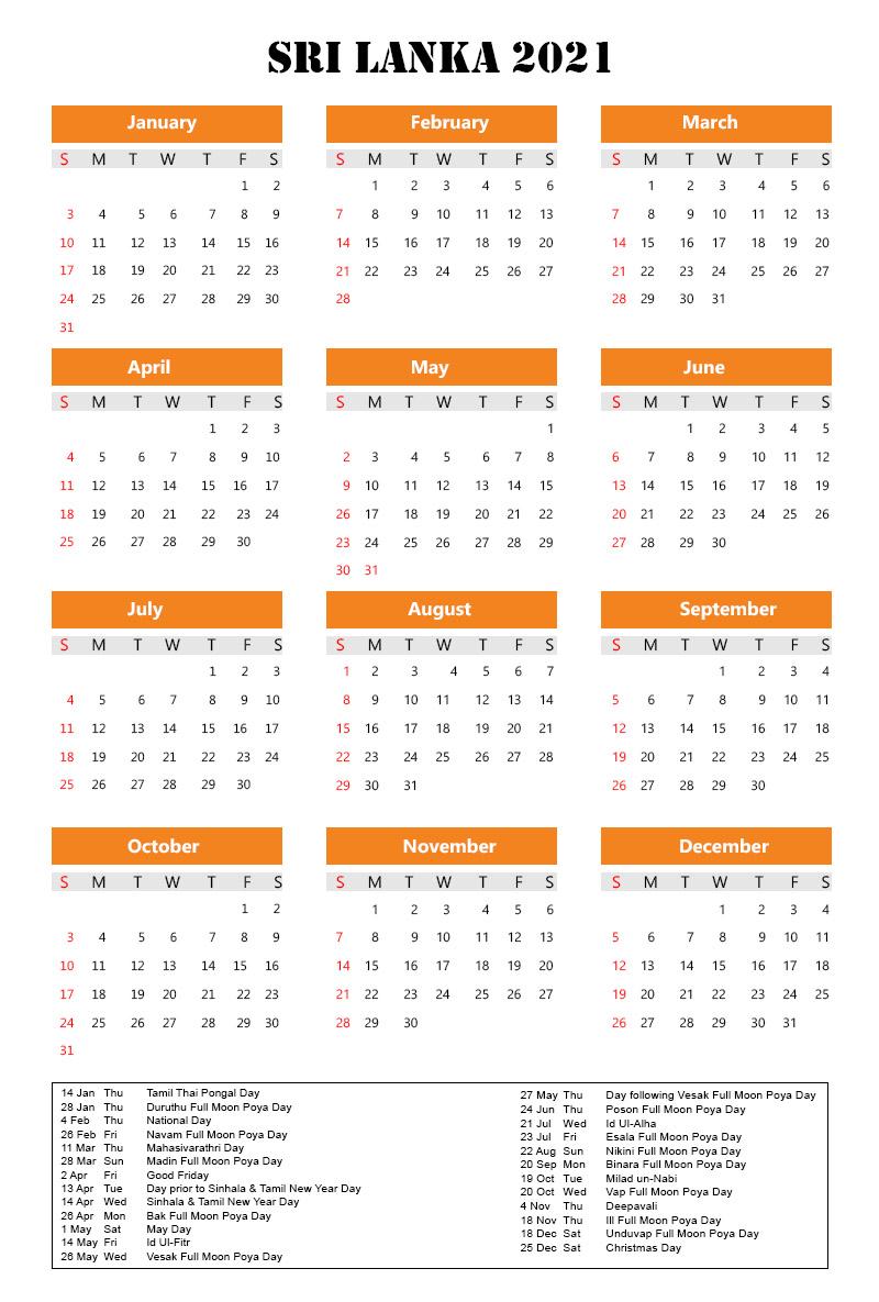 Sri Lanka Holidays 2021